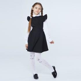 Школьный сарафан, цвет черный, рост 128