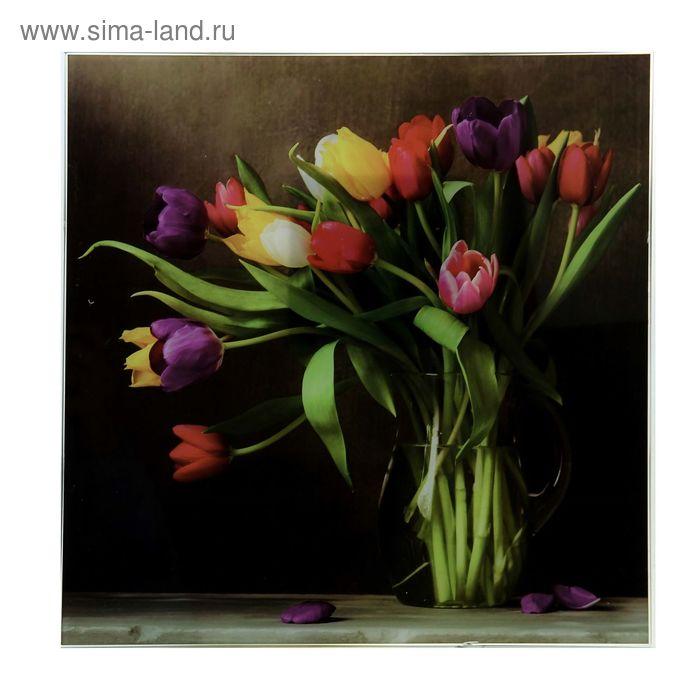 "Картина на стекле ""Тюльпаны"""