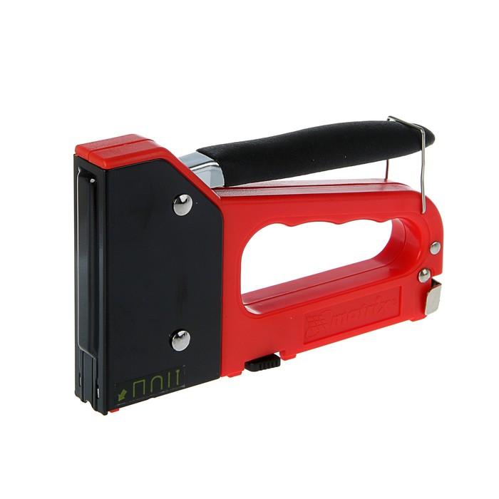 Степлер мебельный MATRIX, 6-14мм, тип 28, 41, 47 53, пласт.корпус, 4- х функциональный