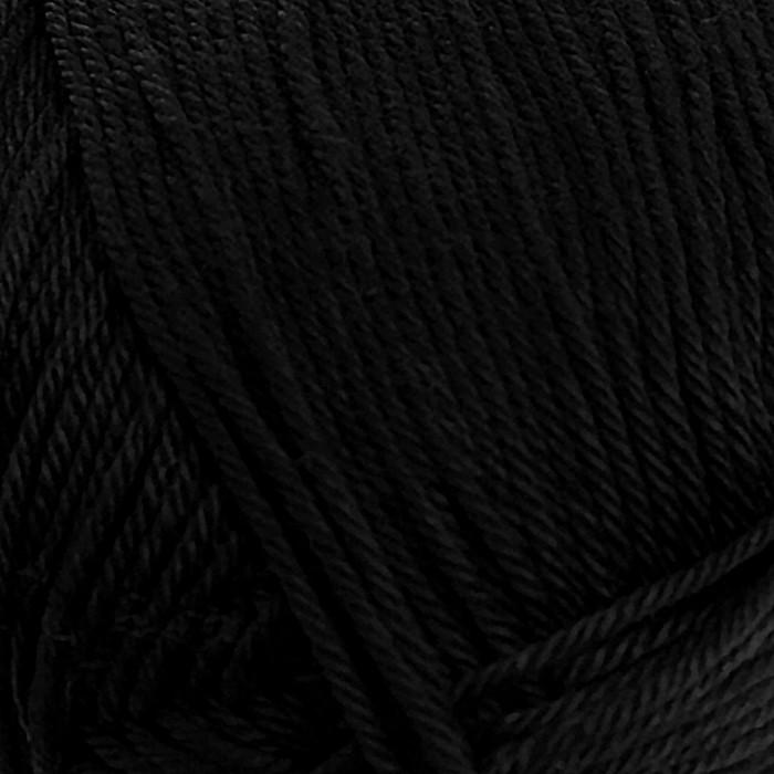 """Пряжа """"Классический хлопок"""" 100%мерсеризованный хлопок 250м/100гр (02-Черный)"""