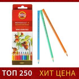 Карандаши акварельные набор 18 цветов, Koh-I-Noor Mondeluz 3717