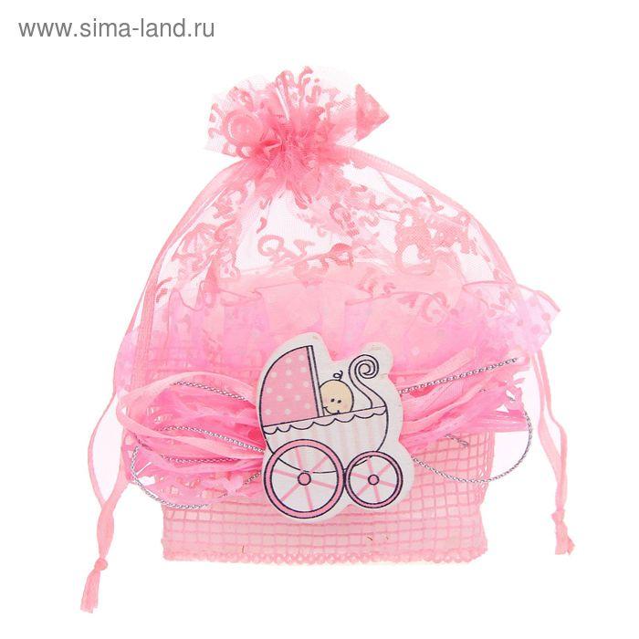 """Бонбоньерка """"Лялька в коляске"""", цвет розовый"""