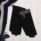 """Перчатки мужские """"Ремешок"""", размер 22, цвет чёрный 65439"""