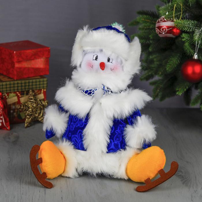 """Мягкая игрушка """"Снеговик в коньках"""""""