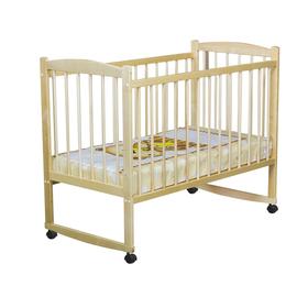 Кровать детская «Колибри» на колёсах или качалке, цвет берёза