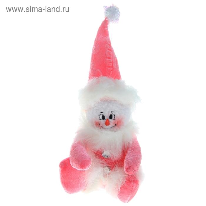 """Мягкая игрушка """"Снеговик"""" розовый"""