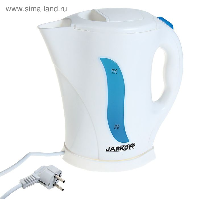 Чайник электрический Jarkoff JK-915BL, 1.7 л, 2000 Вт