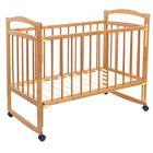 Детская кроватка «Колибри Эко-4» на колёсах или качалке, цвет орех