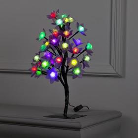 """Светодиодный куст улич. 0.3 м, """"Роза большая"""", 32 LED, 220V, моргает RG/RB"""