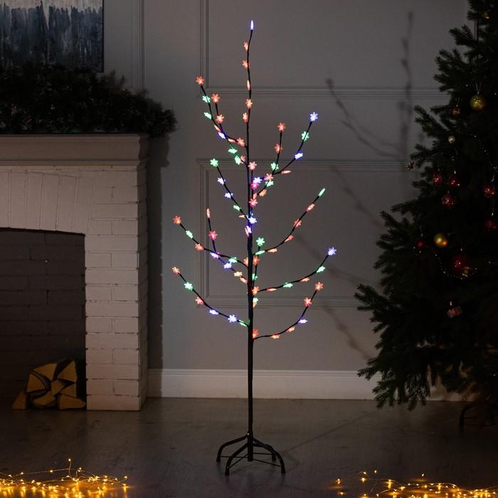 """Светодиодный куст улич. 1,5 м, """"Снежинка"""", 84 LED, 220V, моргает RG/RB"""