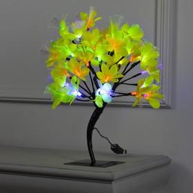 Светодиодный куст улич. 0,3 м, 'Лилия желтая', 32 LED, 220V, моргает RG/RB Ош