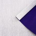 Бумага гофрированная, 802/6 серебристо-синий металл, 0,5 х 2,5 м