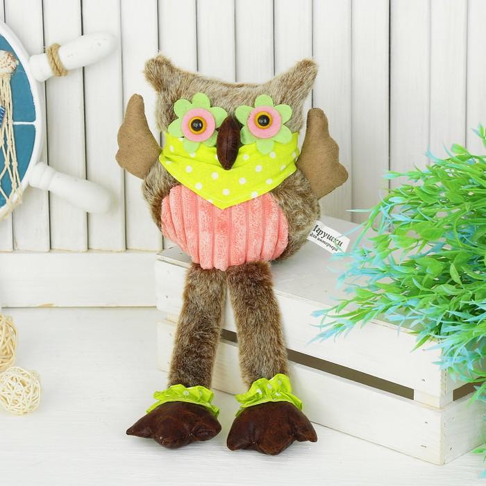 """Мягкая игрушка """"Совушка"""", зеленые платок"""