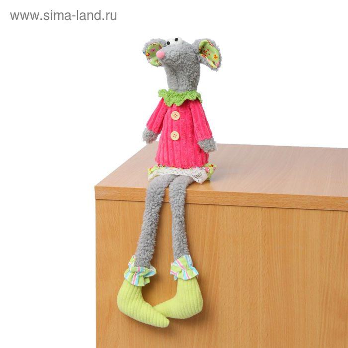 """Мягкая игрушка """"Мышка"""", зеленые носочки"""