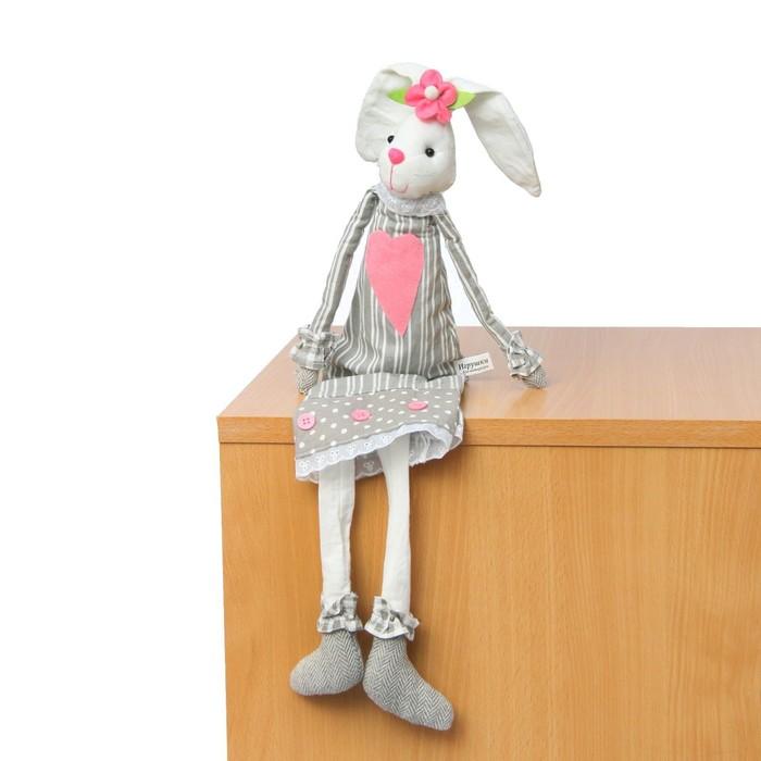 """Мягкая игрушка """"Зайка"""", в платье с пуговками"""