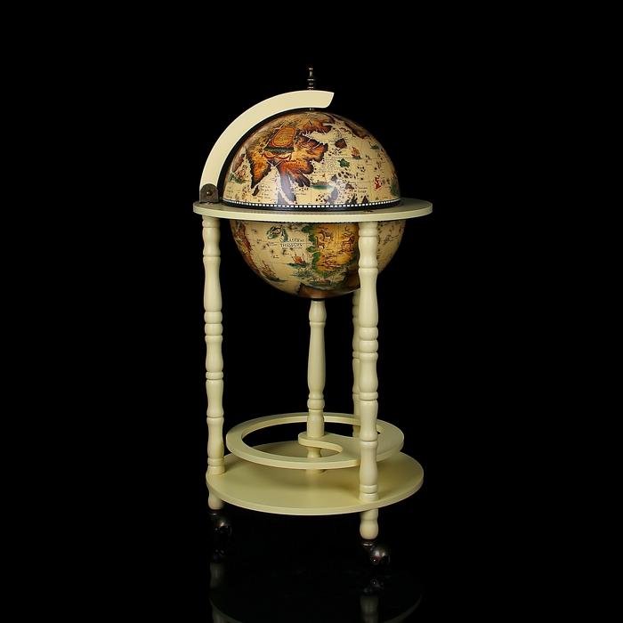 Глобус-бар декоративный песочного цвета