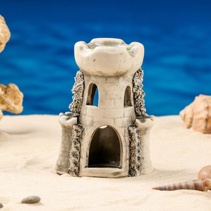 """Декорации для аквариума """"Башня"""" малая микс"""