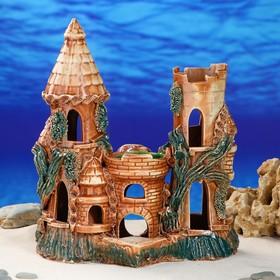 """Декорация для аквариума """"Замок"""", 16 х 34 х 36 см, микс"""