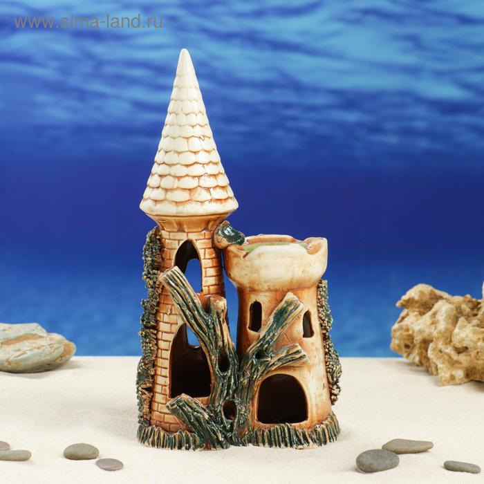 """Декорации для аквариума """"Замок острый с башней"""""""