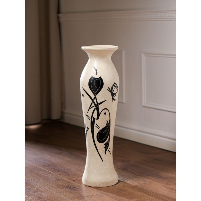 """Ваза напольная """"Анита"""", абстракции, цвет белый, 68 см, керамика - фото 882350"""