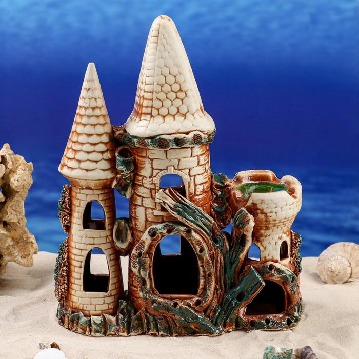 "Декорации для аквариума ""Замок"" - фото 7392551"