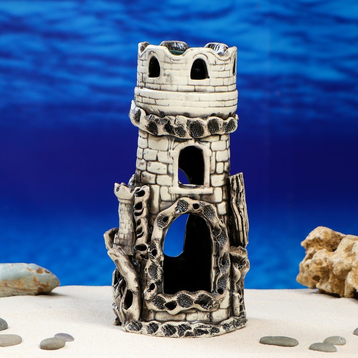 """Декорации для аквариума """"Здание с башнями"""""""