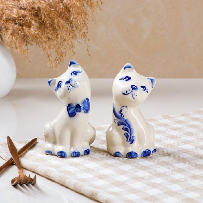 """Набор для специй """"Котята"""" 2 предмета, роспись"""
