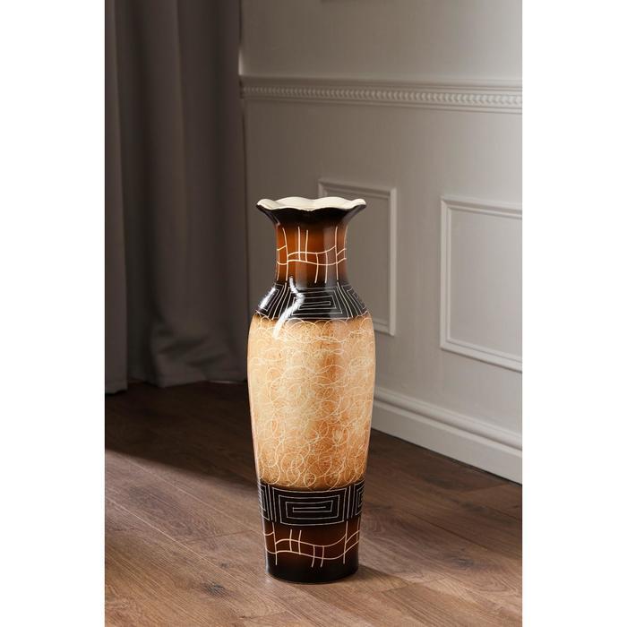 """Ваза напольная """"Марта"""", цвет коричневый, 66 см, микс, керамика - фото 7328062"""