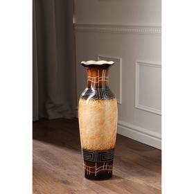 """Ваза напольная """"Марта"""", цвет коричневый, 66 см, микс, керамика - фото 7328063"""