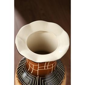 """Ваза напольная """"Марта"""", цвет коричневый, 66 см, микс, керамика - фото 7328064"""