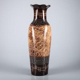 """Ваза напольная """"Марта"""", цвет коричневый, 66 см, микс, керамика - фото 7328066"""