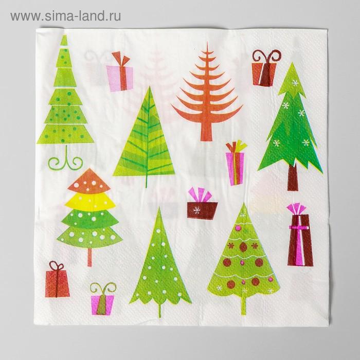 "Napkins ""Christmas Trees"" (set of 20 PCs)"