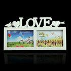 """Photo frame """"Love — heart with arrow"""" 2 photos 10x15 cm, white"""