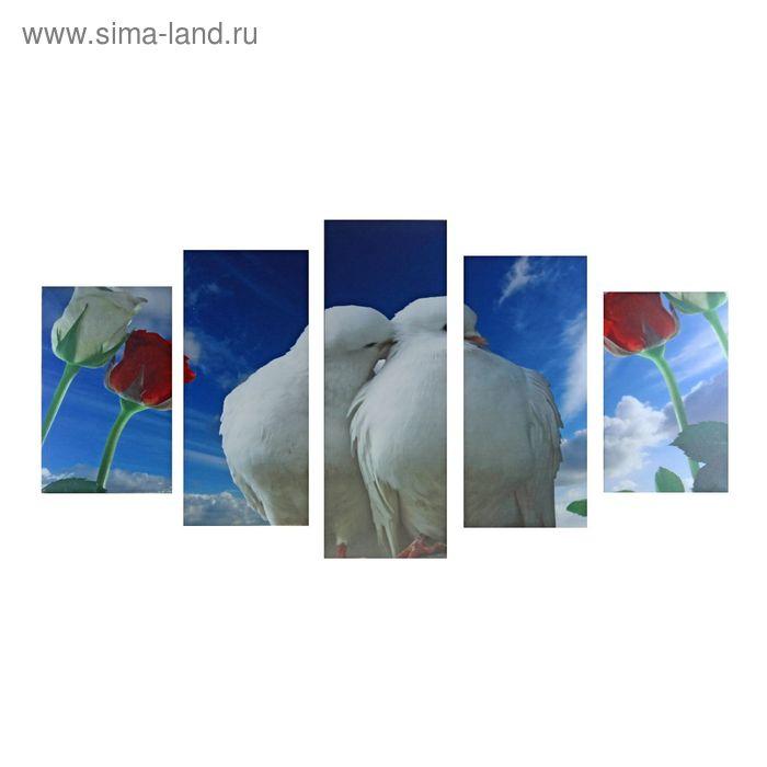 """Модульная картина на холсте с подрамником """"Вечная любовь"""""""