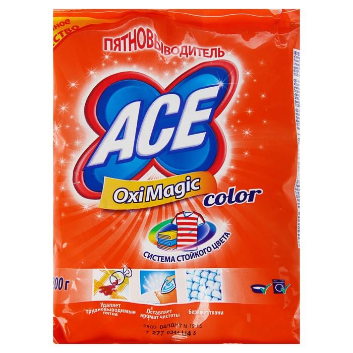 Пятновыводитель Ace Oxi Magic для цветных вещей, 200 г