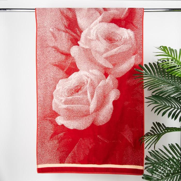 """Полотенце махровое Авангард """"Розы 3D"""", размер 70х140 см, 420 г/м2"""