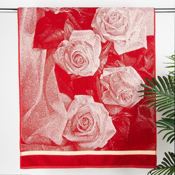 """Полотенце махровое Авангард """"Букет роз 3D"""", размер 70х140 см, 420 г/м2"""