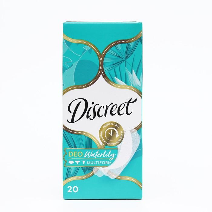 """Прокладки ежедневные Discreet Plus Deo """"Водяная лилия"""", 20 шт - фото 290611"""