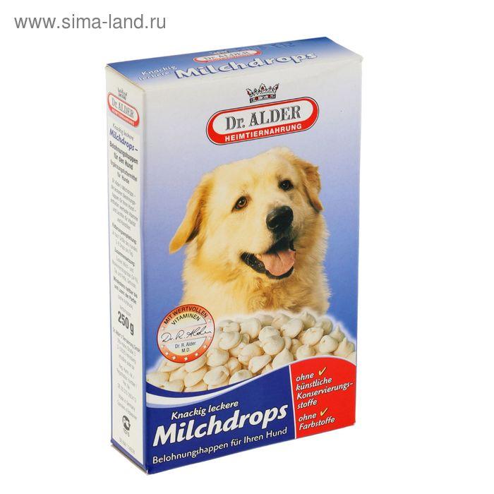 """Лакомство для собак Dr. Alders """"Молочные дропсы"""" 250 гр"""