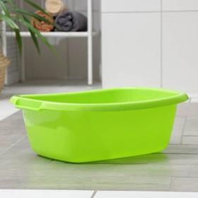 Таз овальный «Водолей», 11 л, цвет салатовый