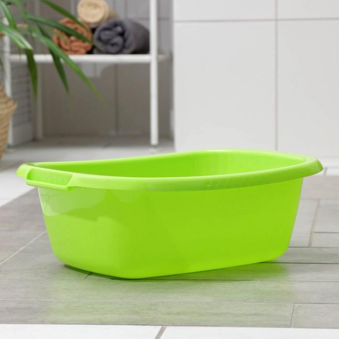 """Таз овальный 11 л """"Водолей"""", цвет салатовый"""