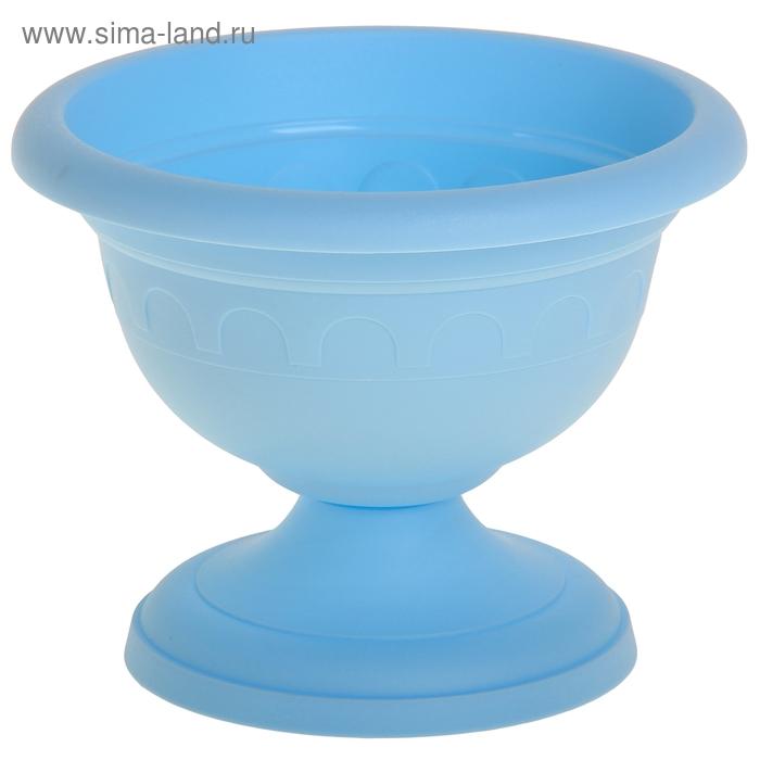 """Вазон низкий """"Колывань"""" 1,1 л d=18 см, цвет голубой"""