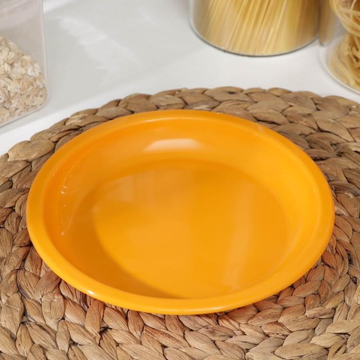 Тарелка для вторых блюд 18 см, цвет МИКС