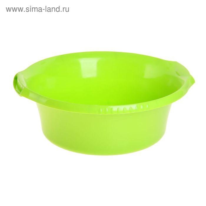 """Таз круглый 9 л """"Водолей"""", цвет салатовый"""