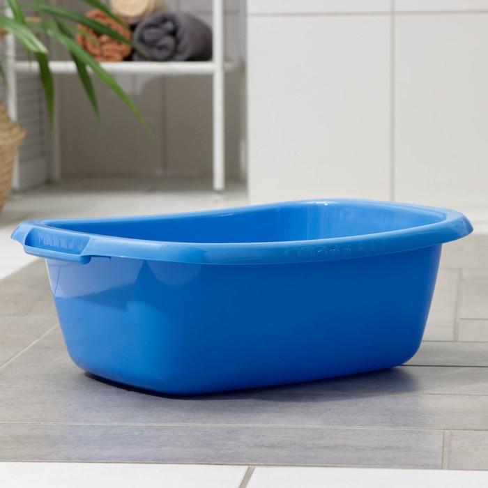 """Таз овальный 11 л """"Водолей"""", цвет синий"""