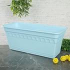 """Ящик для растений балконный """"Колывань"""" 40 см с поддоном, цвет голубой"""