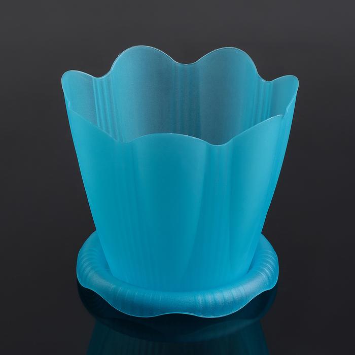 """Горшок для орхидей с поддоном 1,5 л, d=16 см """"Эдельвейс"""", цвет МИКС"""