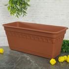 """Ящик для растений балконный """"Колывань"""" 40 см с поддоном, цвет терракотовый"""