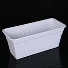 """Ящик для растений балконный с поддоном 40 см """"Колывань"""", цвет мрамор"""