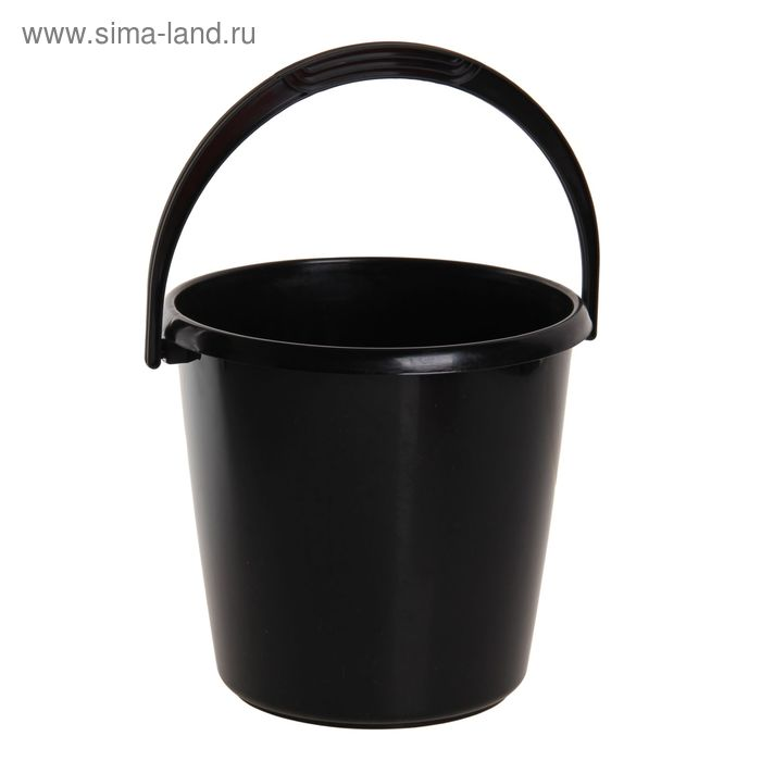 """Ведро """"Соло"""" хозяйственное 10 л, цвет черный"""
